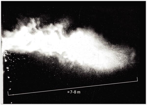 Аэрозольное облако после чихания